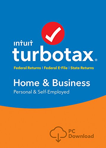 Software : TurboTax Home & Business + State 2018 Fed Efile PC Download [Amazon Exclusive]