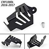Areyourshop Rear Brake Reservoir Guard Cover for CRF1000L Africa Twin 2016-2017 Black