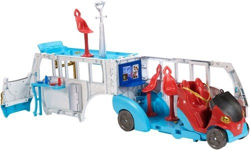 DC Super Hero Girls Action Doll Feature Bus, 12