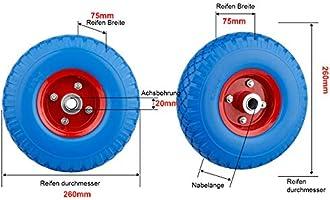 Solid rubber wheelbarrow wheel puncter proof tyre incl axle hand truck 150 kg