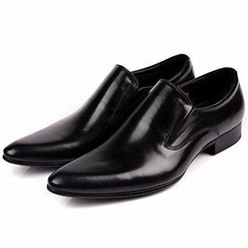 Hombres Negocio Cuero Vestir Soltero Zapatos Formal marrón Negro Boda Punta puntiaguda Oxfords británico Estilo Plano tamaño 37-45 black