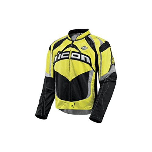 Icon Contra Military Spec Jacket , Gender: Mens/Unisex, Apparel Material: Textile, Size: 2XL, Primary Color: Yellow, Distinct Name: Military Spec Yellow 2820-1845