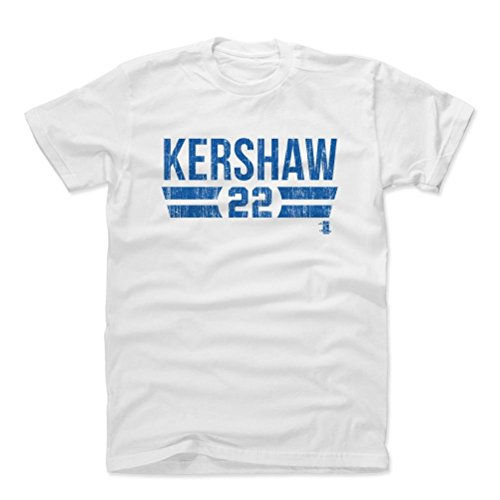 500 LEVEL's Clayton Kershaw Cotton Shirt Small White - Los Angeles Dodgers Fan Apparel - Clayton Kershaw Font B