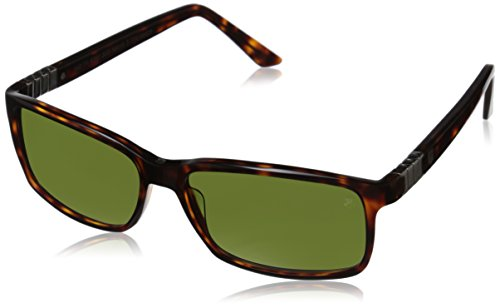 TAG Heuer Legend 9381 303 Square Sunglasses, Tortoise/Gradient Green, 58 - Sunglasses Tag