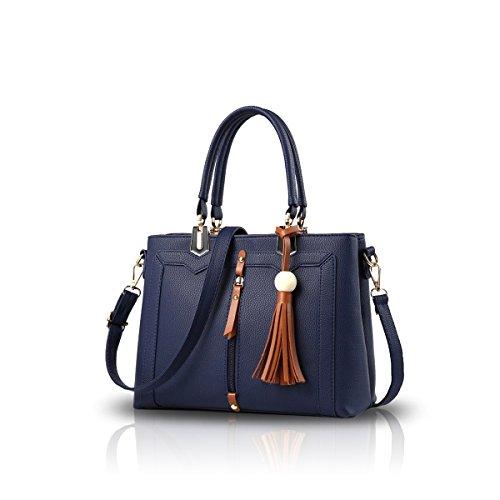 NICOLE&DORIS Bolso simple del bolso de Crossbody de las mujeres Azul Azul