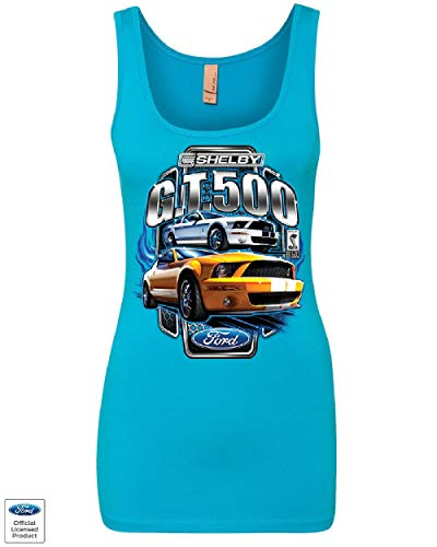 Shelby GT500 Ford Performance Women's Tank Top Ford Mustang Cobra Racing Top Turquoise L