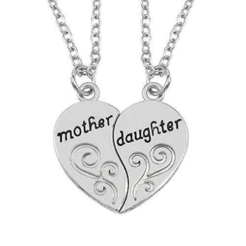 Luvalti Mother & Daughter Pendant Necklace - 2x20 Chain + 2 Necklace Pendants - Best Family Gift