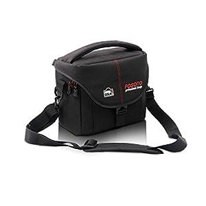 FOSOTO DSLR Camera Case Bag for Nikon D3300 D3400 D5500 D5300 D3200 D7200 D7100 D810 D750 D610,Canon EOS Rebel T4i T5i T5 T6 SL1 T3i 700D 750D,Sony Fuji Pentax