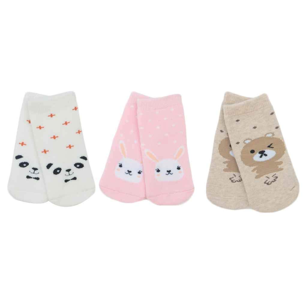 Arichtop 3Pairs Winter Autumn Thicken Warm Infant Cartoon Animals Terry Socks Baby Sockings Toddlers High Socks