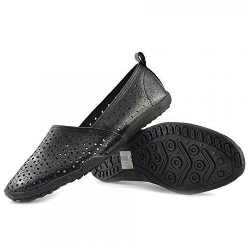 Di F80206 Kick Donna Mocassini Dolly Nero Piatto Footwear Balletto Nuove Ballerina Scarpe Del Ladies Nero Pompe XwqwrZF