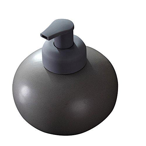 Layboo Ceramics Spherical Foaming Soap Dispensers Pump-Bottles for Kitchen, Bathroom Countertop and Vanities 600 ml(20.49 oz) (Gray)