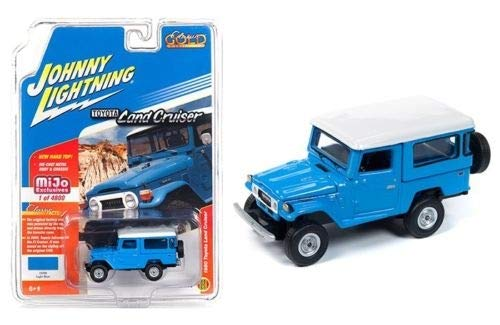 1980 Toyota Land Cruiser Light Blue with White Top Limited Edition to 4,800 Pieces Worldwide 1/64 Diecast Model Car by Johnny Lightning JLCP7161