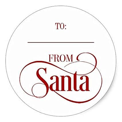 amazon com from santa claus christmas stickers round envelope