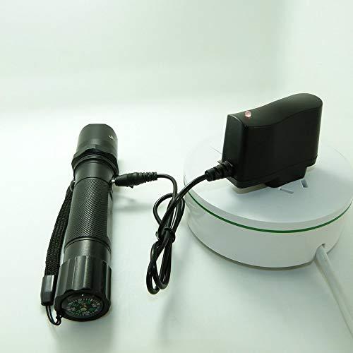 500MM Negro Libertroy 18650 Cargador de bater/ía de Litio Cargador de Linterna Cargador de Faro 4.2V Carga Directa Inteligente Cargador s/úper Duradero