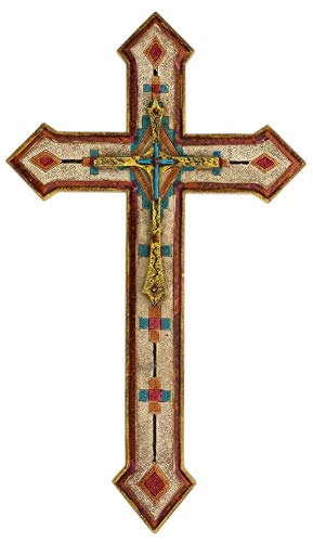 Joy of Giving Wall Cross with Aztec Motif - Resin 20