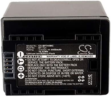4450mAh XPS Replacement Battery for Canon Ixia HF R306 Legria HF R306 Legria HF R36 Legria HF R37 Legria HF R38 Legria HF R506 VIXIA HF M50 VIXIA HF M500 VIXIA HF M506