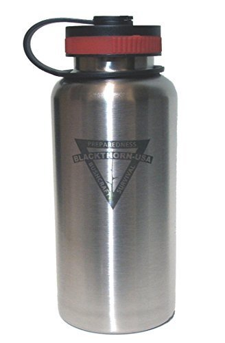 - BLACKTHORN BOTTLE, 32oz Stainless Steel Wide Mouth Water Bottle