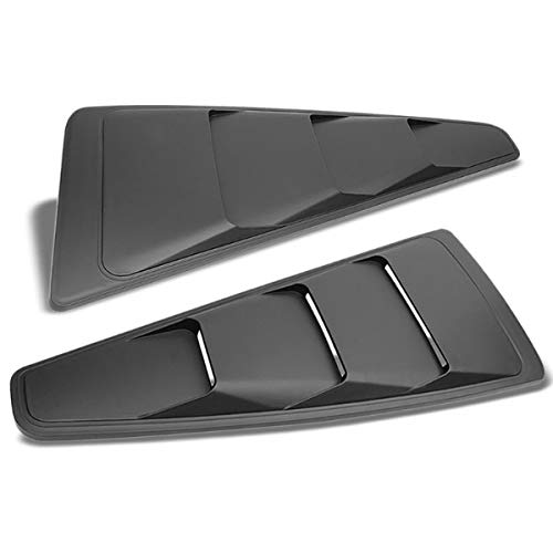 UrMarketOultet 2PC Rear Matte Black Window Louver Quarter Side Scoop Cover Work with 05-14 Ford Mustang Coupe (Does NOT Fit Convertible ()