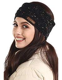 Womens Cable Knit Ear Warmer Headband - Winter Fleece Lined Headwrap by  Brook + Bay f5492bd354a