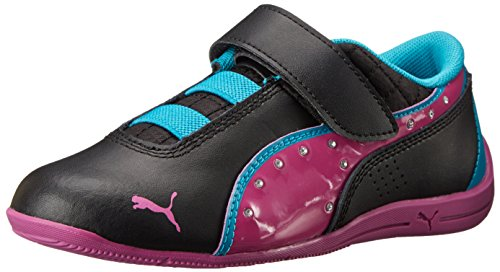 PUMA Drift Cat 6 Diamonds V Kids Sneaker (Infant/Toddler/Little Kid), Black/Vivid Viola/Capri Breeze, 11 M US Little Kid ()