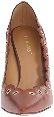 Nine West Jayla cuero bomba de vestir Dark Natural
