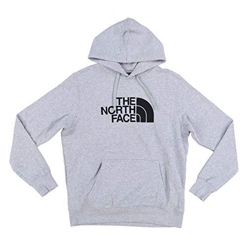 The North Face Mens Half Dome Graphic Pullover Hoodie (X-Large, Grey Heather/Black)