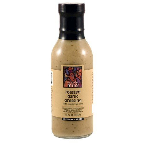 Chardonnay Wine Sauce - Vino de Milo Dressing - Roasted Garlic with Chardonnay (12 ounce)
