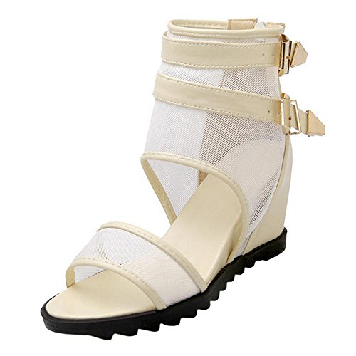 Women Sandals Wedge Coolcept Beige Heel Ax6qw0