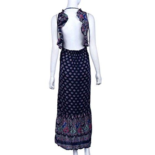 Gotd Women Sexy Strap Backless Sleeveless Split Open Fork Dress Dark Blue (L) by Goodtrade8 (Image #3)