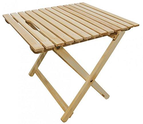 10–350N Hêtre clair pliable Table d'appoint, table de jardin