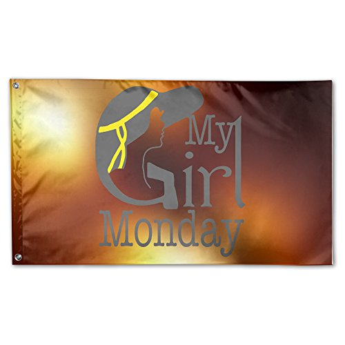 Lazy Life My Girl Monday Decorative Home Outdoor Garden Decor Flag Banner 3 X 5 - Country Kids Rd