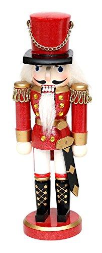 Hochwertiger Nussknacker als klassischer Soldat ca. 20 cm, in roter Uniform