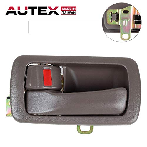 AUTEX Door Handle Brown Interior Compatible with Toyota Camry 1992-1996 Door Handle Front/Rear Left Driver Side 80493