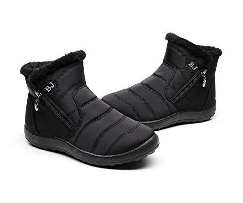 Popoti Botas de Nieve Zapatos Unisex, Hombre Mujer Botas de Nieve Antideslizante Calientes Fur Botines Forradas Cortas Boots...