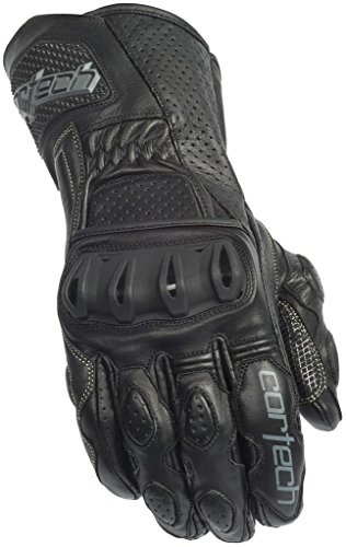 Icon Motorcycle Gloves Icon - Cortech Latigo 2 RR Adult Street Bike Motorcycle Gloves - Black/Black Large