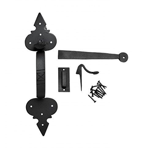 Wrought Iron Door Latch Lock Set Exterior Door Fleur Lis Door Latches 12 3/4
