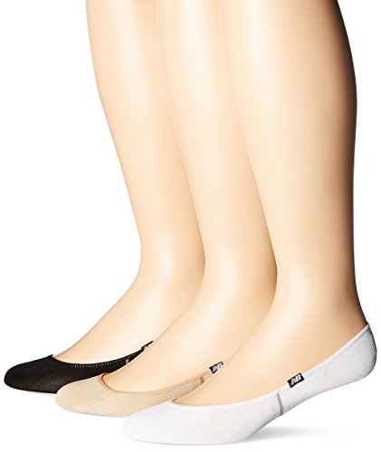 - New Balance Lifestyle Active Elements No Show Liner Socks (3 Pack), Black/White/Tan, Men's 7.5-9/Women's 6-10