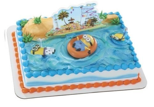 CakeDrake MINIONS Despicable Me Cake Birthday Beach Party Decorating Topper Figure Set ()