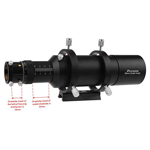 Astromania 60mm Compact Deluxe Finder & Guidescope Kit with 1.25'' Double Helical Focuser - Guiding with The Mini-Guide Scope: So Astrophotography is Easier and Less Equipment by Astromania (Image #4)