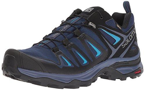 Salomon Women's X Ultra 3 GTX Trail Running Shoe, Medieval Blue/Black/Hawaiian surf, 5 B US by Salomon (Image #1)