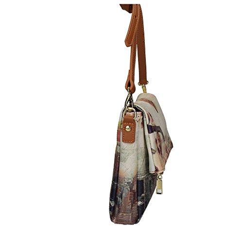 BORSA YNOT NEW SHOULDER BAG H-394 LIN LIVELY NY Beige