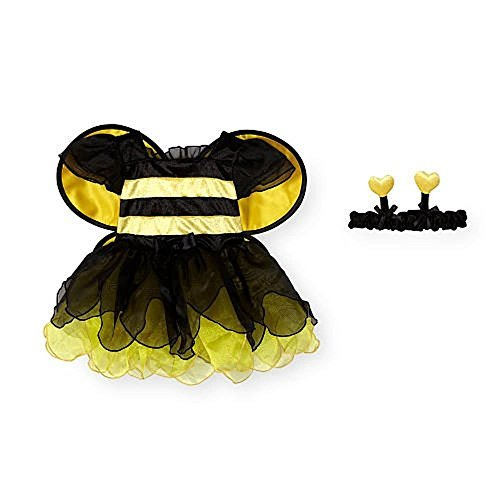Koala Kids Girls 2 Piece Yellow/Black Bumblebee Costume with Headband 9M-12M