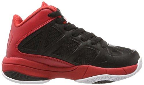Peak Sport Europe Basketballshoe Victor y, Zapatillas de Baloncesto Unisex Niños Schwarz (Black Red)