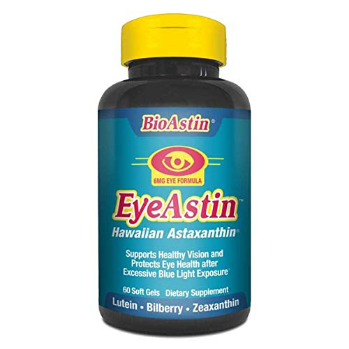 Nutrex Hawaii MD Formulas EyeAstin - 60 Vegetarian Softgels Pack Of - 3