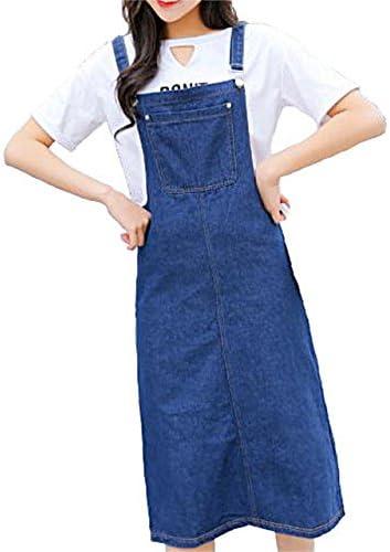 スプリングスワロ? SpSw 여성 걸즈 롱 길이 작업 바지 데님 스커트 느긋하게 년간 입고 돌고 있는 올인원 / Springswaro SpSw Ladies Girls Long Length Overall Denim Skirt Loose All-In-One