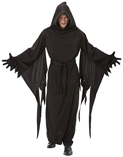 Black Terror Robe Costume - Standard - Chest Size 42 (Warlock Costumes)