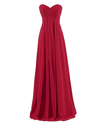Sweetheart BellyLady Long Womens Dark Bridesmaid Dresses Burgundy Dresses Strapless Prom Chiffon qaFwEPA