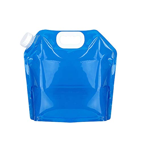TEAMTOP Collapsible Water Container 5L BPA Free Plastic Water Carrier Portable Water Tank Lightweight Space-Saving Outdoor Folding Water Bag for Sport Hiking Camping Riding Mountaineer - Food Grade