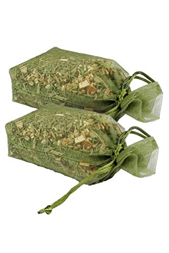 Natural Scented Potpourri Sachets - Made in the USA with Herbs, Citrus Peels and Essential Oils by MoonDance Soaps (Set of 2 Bags, CITRUS)