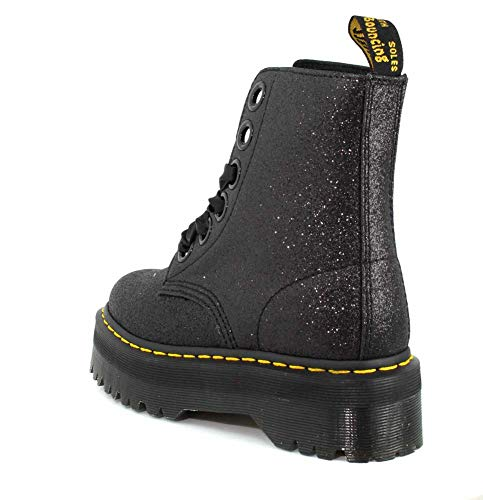 Womens Molly Dr Martens Glitter Glitter Black Boot EZ5wz